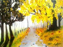 A walk to remember, painting by Megha Gupta