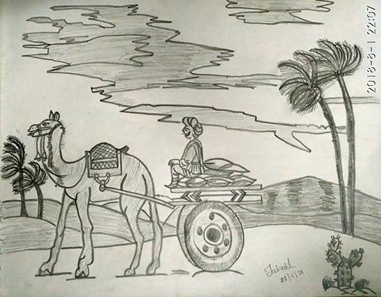Painting  by Jainil Bhavsar - Mode of transport - 1