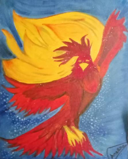 Phoenix Painting by Aneeka Banerjee