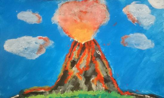 Painting  by Aneeka Banerjee - Volcanic Eruption