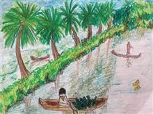 Painting  by Pradnya Pratapsinh Sarnikar - Beauty of Kerala