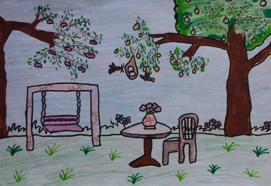Garden, painting by Anusha Guptaa