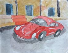 Painting  by Nandakishore M O - Beetle car