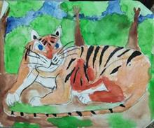Painting  by Nandakishore M O - Tiger