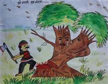 Painting  by Diksha  - Save the trees