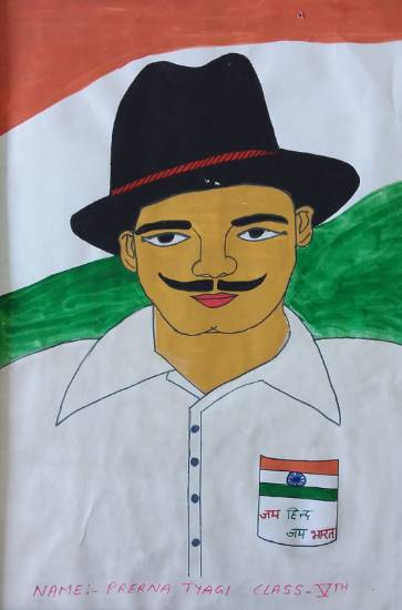 Painting  by Prerna Tyagi - Freedom Fighter