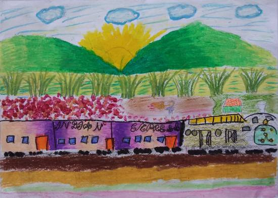 Painting  by Aradhya Mohanty - Railway