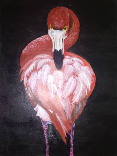 Painting  by Harshini  - Flamingo