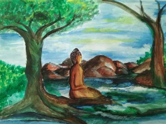 Painting  by Harshini  - Buddha