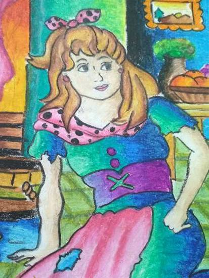 Painting  by Harshini  - Cinderella