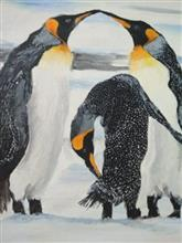 Painting  by Harshini  - Penguins