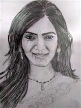 Painting  by Harshini  - Woman - 2