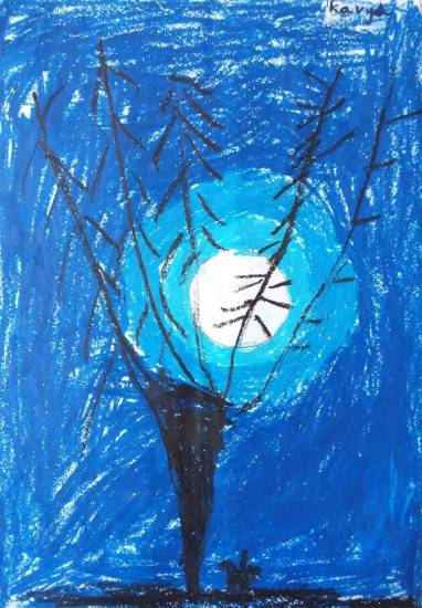 Painting  by Kavya Yogesh - Night Sky