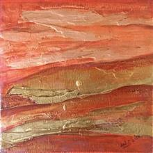 Red Earth - 4, painting by Ami Patel