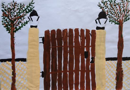 Gate, painting by Prachi