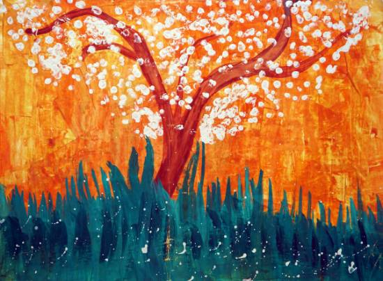 Painting  by Tushar Sahu - Tree
