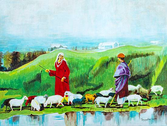 Call of the Valley, painting by Anuradha Kabra