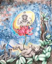 Vatapatrashayi, Painting by Anuradha Kabra