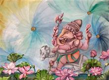 Akurath, painting by Anuradha Kabra