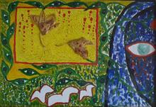 Painting by Sangeeta Karkhanis - Ecology, peace and women