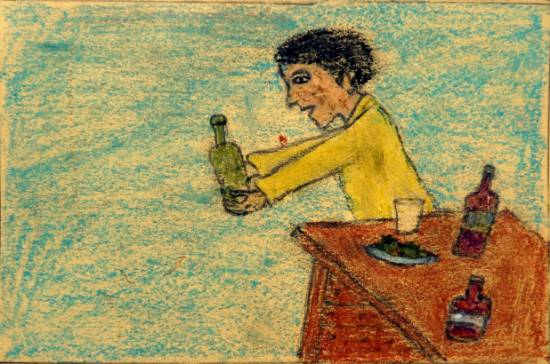 Painting  by Shailesh Ganpat Dumada - Quit Drinking