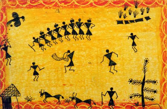 Painting  by Deepak Mohan Talha - Warli Art