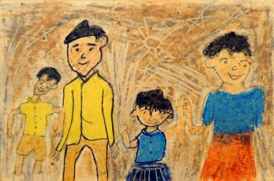 Painting  by Chetan Dharma Ravate - Family