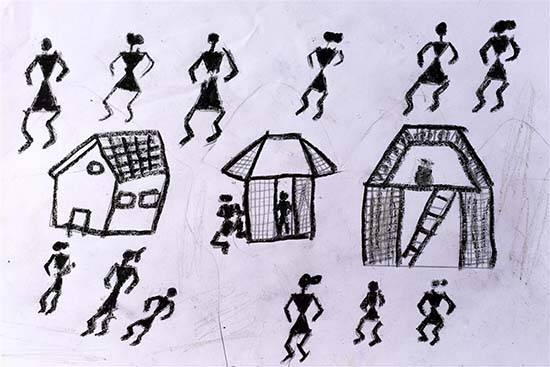 Painting  by Chetan Dharma Ravate - Warli Art 1