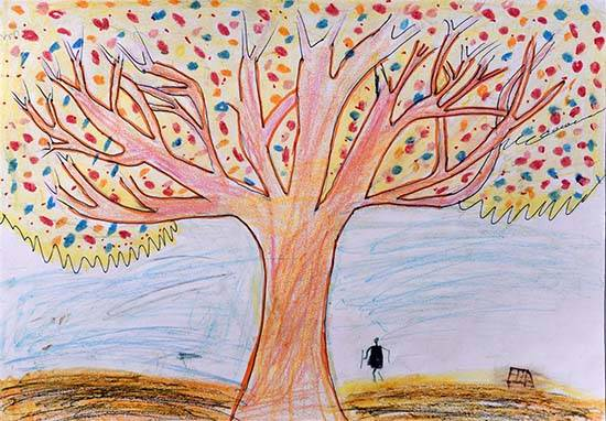 painting by Chandu Raman Rinjad - Tree