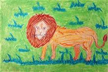 Painting  by Rutika Vijay Dhinde - King of Jungle