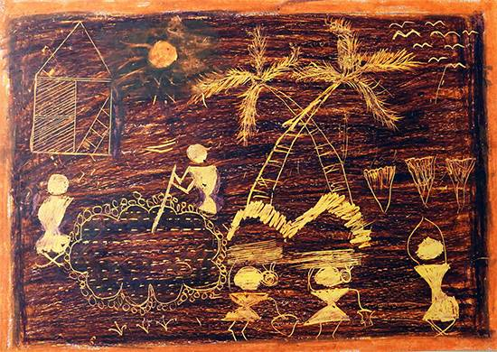 Painting  by Nitin Kashinath Digha - Warli Art