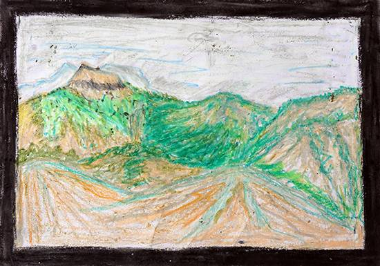Painting  by Nitin Kashinath Digha - Mountains