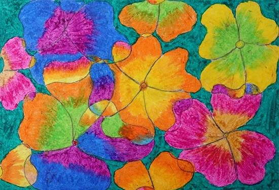 Painting  by Anjana Janu Bhavar - Flower Art