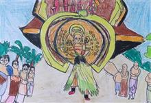 Painting  by Ved Amrut - Theyyam