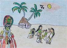 Painting  by Ved Amrut - Beautiful Kerala