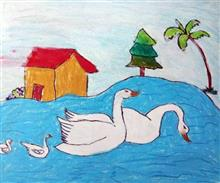 Painting  by M. Varsini - Duck