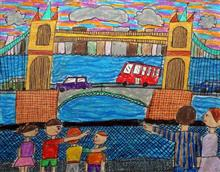 Painting  by Rivaan M Shah - Boys And Girls In City