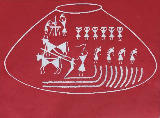 Painting  by Jyoti Sawant - Warli Art
