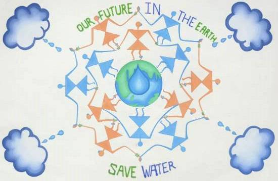 Painting  by Jyoti Sawant - Save the Water