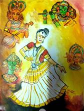 Painting  by Tisshya Sharma - Dancer in Kerala