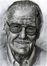 Painting  by Deepak Kumar EP - Stan Lee