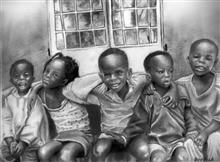 Painting  by Deepak Kumar EP - Children of Hope of Uganda