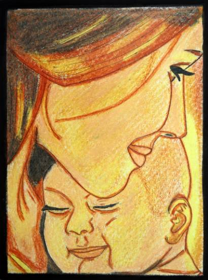 Painting  by Jothi Shree Murugesan - Moms Love