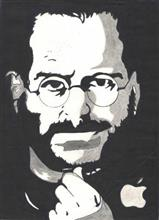 Painting  by Jothi Shree Murugesan - Steve Jobs-Co-Founder of Apple & Pixar
