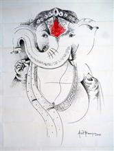 Painting  by Amit Banerjee - Shree Ganesha