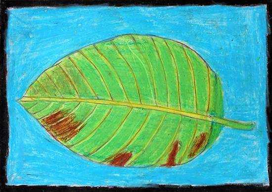Painting  by Ankesh Bhiva Mali - Leaf