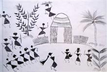 Painting  by Aruna Sonu Bhawa - Warli Art