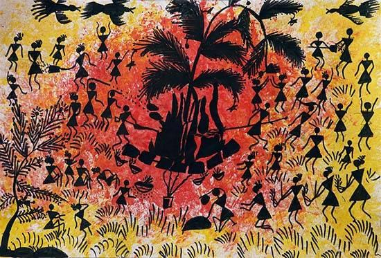 painting on festival of Holi by Asmita Bhoye, medal winner in Khula Aasmaan painting competition