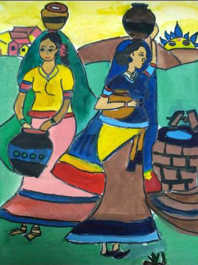 Painting  by Bhairavi B - Womens in Town