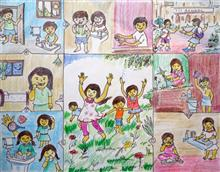 Painting  by Debahuti Dey - Clean Childrens